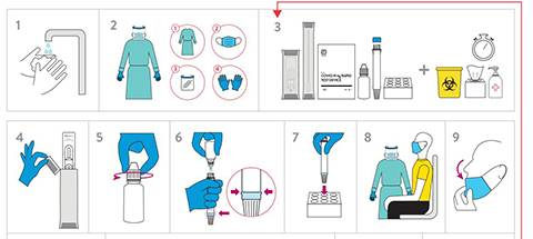 Download a quick reference guide for the Panbio™ COVID-19 Ag Rapid Test Device Nasal kit.