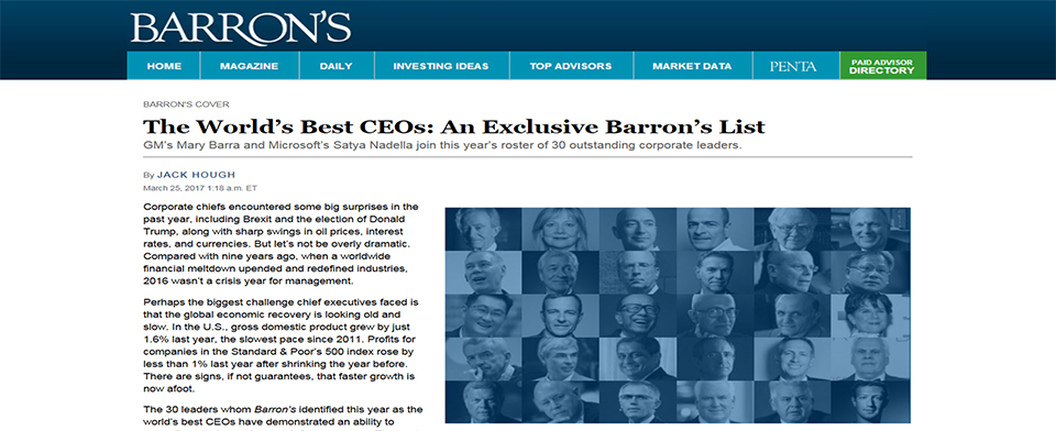 Barron's - The World's Best CEOs