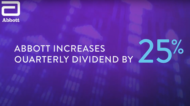 Abbott Increases Quarterly Dividend by 25%