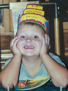 Brian Rubin at his birthday party, 4-years old