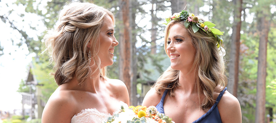 Twins Chelsey and Emily Cornwall celebrate Emily's wedding day after both having heart transplants.