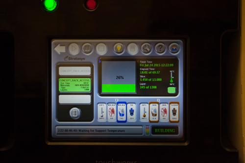 3D printer at Abbott's diagnostics business in Santa Clara, California.