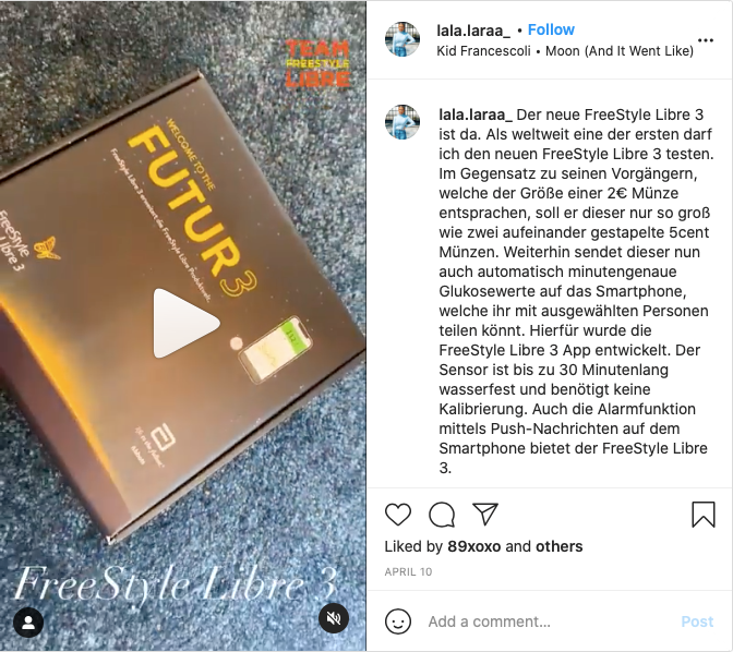 lala.laraa The new FreeStyle Libre 3 is here. … In contrast to its predecessors, which corresponded to the size of a 2 € coin, this one should only be as large as two 5 cent coins (Euro) stacked on top of each other.